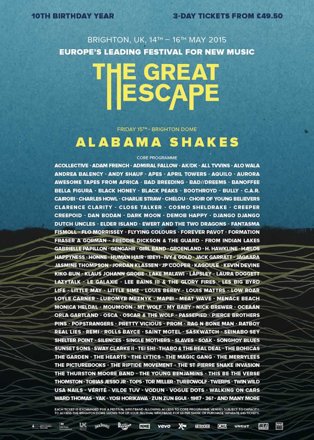 The Great Escape 2015 Lineup