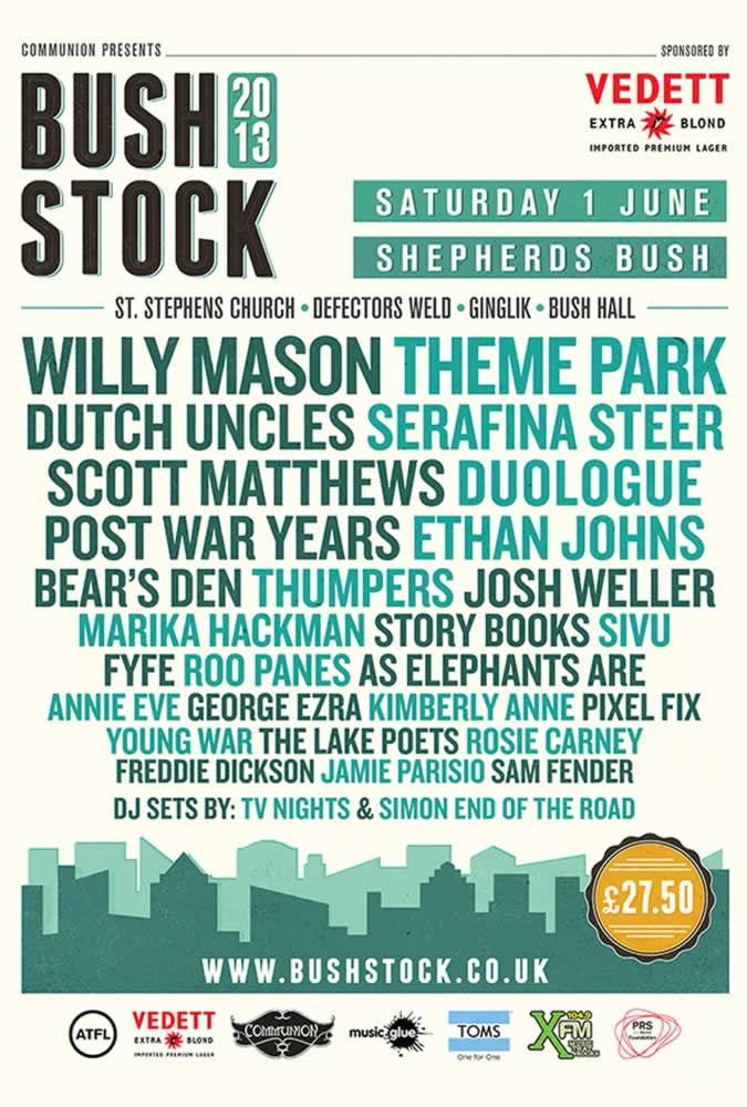 Bushstock 2013 lineup announced