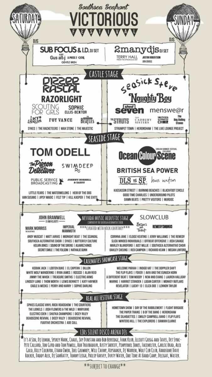 Victorious Festival 2014 lineup